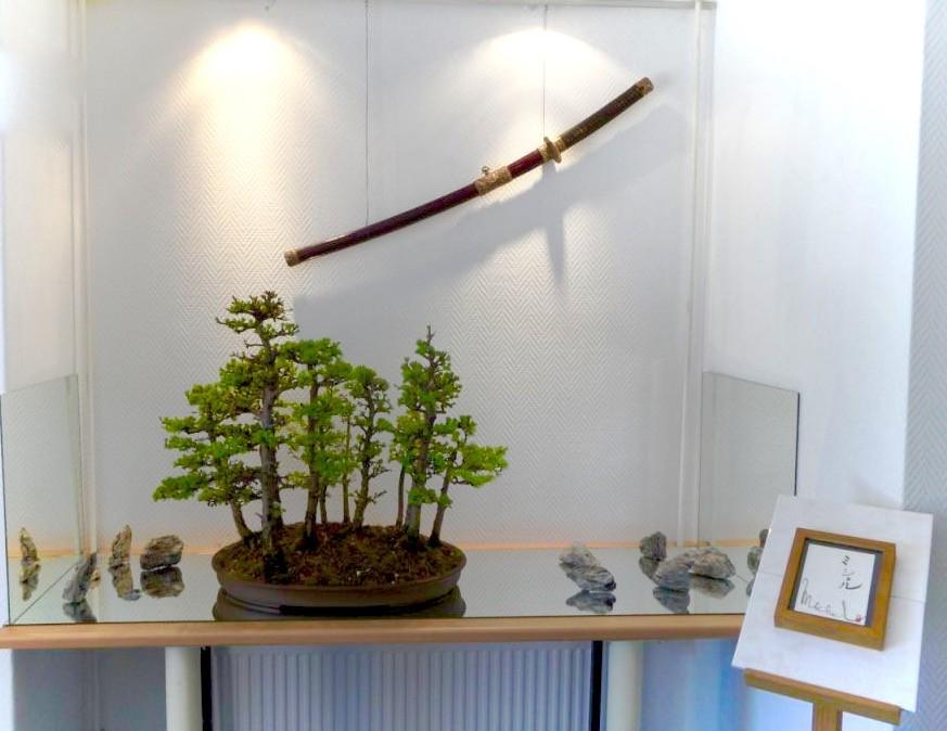 Michel Meinders met Larix bos van Leen